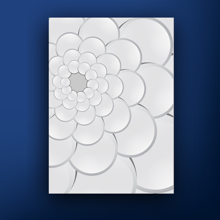 squama: Vector grey squama swirl  brochure  booklet cover design templates collection