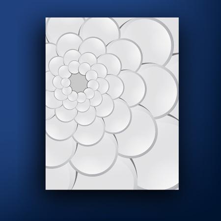 squama: Vector grey squama swirl  brochure   booklet cover design templates collection Illustration