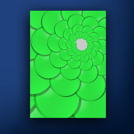 squama: Vector green squama brochure  booklet cover design templates collection Illustration