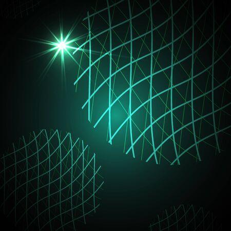 mesh: Global Digital mesh network illustration