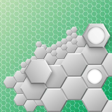 hexahedral: Abstract hexagon background. Vector illustration, contains transparencies, gradients and effects   Illustration