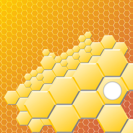 hexahedral: Abstract hexagon background. Vector illustration, contains gradients and effects. Illustration
