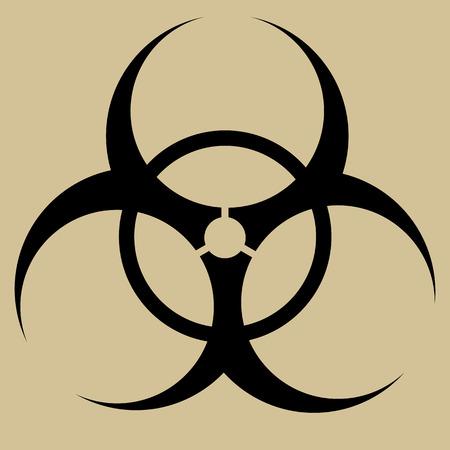 símbolo de riesgo biológico Vector de la muestra aislada