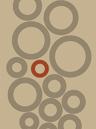 Background de stijl art abstract rounds for a text Illustration
