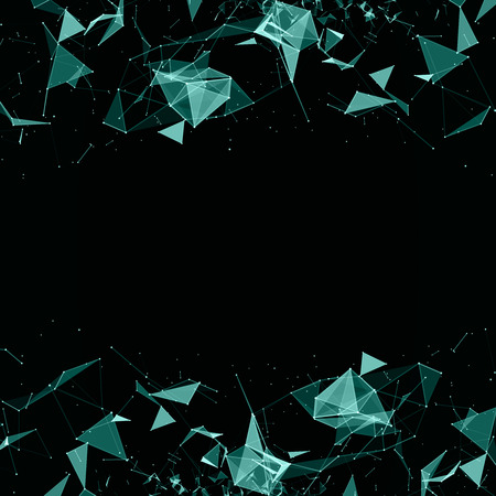 cybernetic: Abstract digital background with cybernetic particles