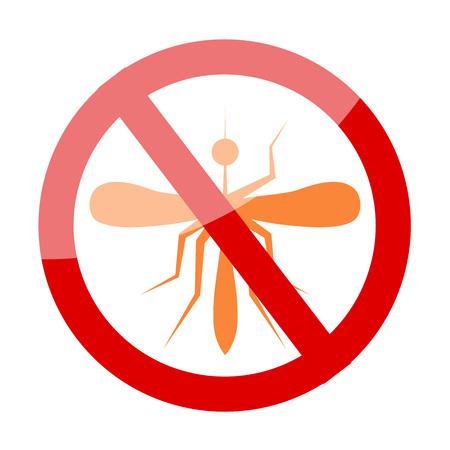 arthropods: Zika Virus with mosquito over grunge graphic illustration.