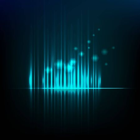 Abstract background graphic equalizer vector