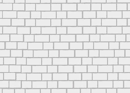 white brick: Realistic white brick wall. 3d seamless background.