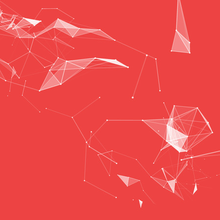 subsidiary: Virtual abstract background with particle, molecule structure. Illustration