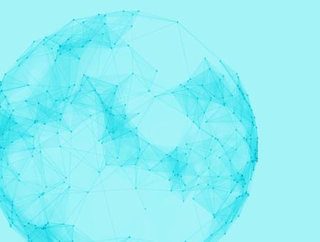 Sphères polygonales de vecteur abstraite. Technologie futuriste style low poly. Fond de points élégants pour les présentations d'affaires.