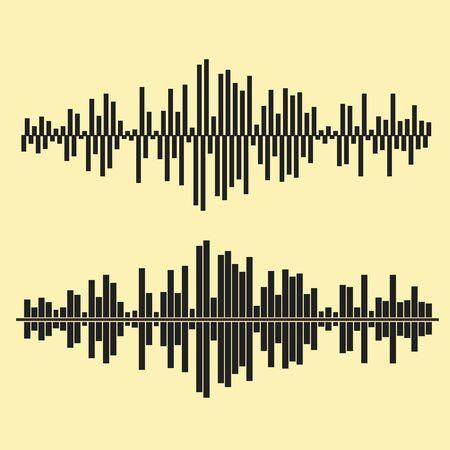 waves: Vector sound waves set. Illustration