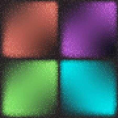 cian: Set of Modern Flat Halftone Backgrounds, illustration cian brown green color