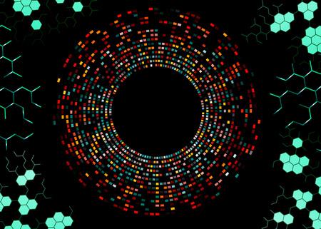 Az absztrakt példa a DNS-ujjlenyomat,