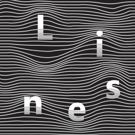 Hullámos minta vonalak Illusztráció