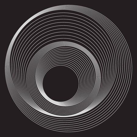 Kerekek minta vonalakkal, fehér vonalak fekete háttéren