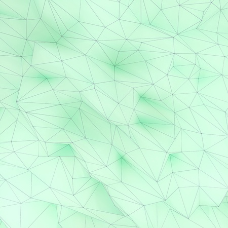 Illustration of polygonal triangle geometric surface. 3D render backround of low poly background.