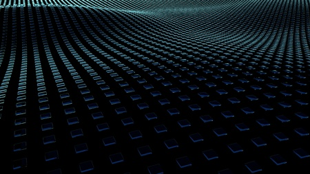 3D Illustration background of squares on surfaces with waves. Stock fotó