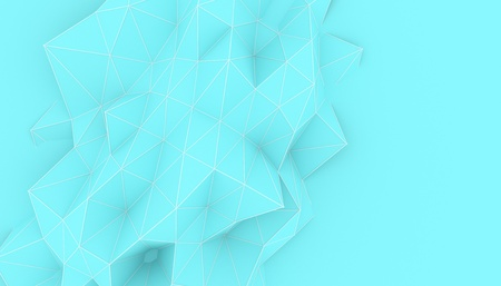 Illustration of polygonal triangle geometric surface. 3D render backround of low poly background with a blank space.