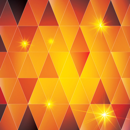 Orange triangle vector abstract pattern