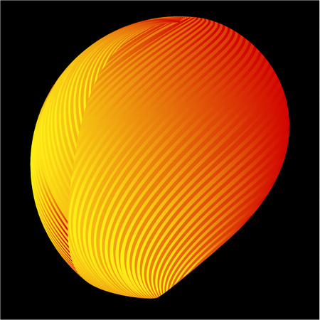 Abstract 3d background with half sphere Ilustração
