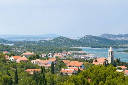 The town of Betina. Murter Island. Kornati. Croatia. photo