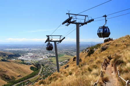 Cableway in Christchurch, New Zealand photo