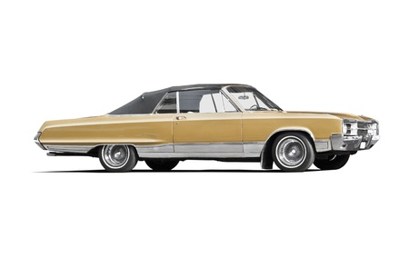 Classic American car on white background photo