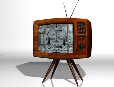 The old TV  A test mode  3D Studio Max  Stock Photo - 13418706