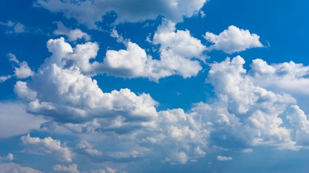 Beautiful clouds with blue sky background. Nature weather