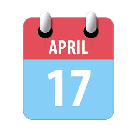 april 17th. Day 17 of month, Simple calendar icon on white background. Planning. Time management. Set of calendar icons for web design. spring month, day of the year concept.