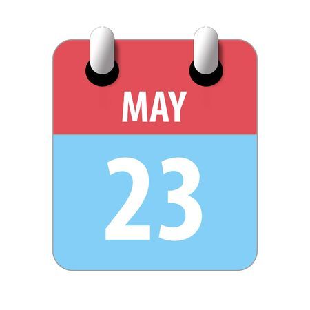 may 23rd. Day 23 of month, Simple calendar icon on white background. Planning. Time management. Set of calendar icons for web design. spring month, day of the year concept.
