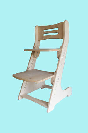 Wooden growing adjustable chair for a children