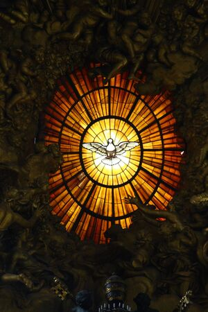 The window of a cathedral of St. Peter in Vatican Banco de Imagens