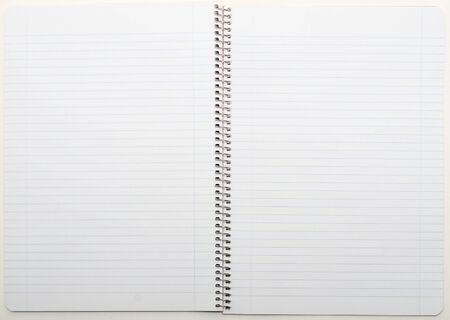 Open view of a lined blank notepad photo