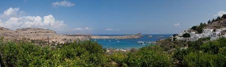 st pauls: Greece.Island of Rhodos. St. Pauls bay in Lindos