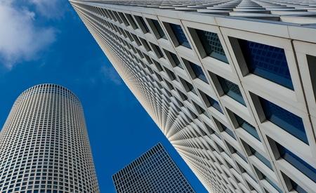 azrieli tower: Tel-Aviv Azrieli Center Skyscrapers  Stock Photo