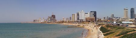 Tel-Aviv beach panorama.Jaffa. Israel. photo
