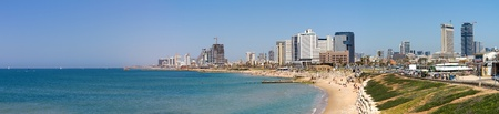 Tel-Aviv beach panorama.Jaffa. Israel. Stock Photo - 11732471