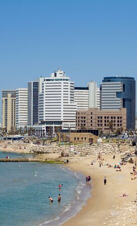 Tel-Aviv beach Jaffa. Israel. photo