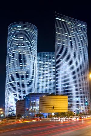 Tel Aviv at night. Azrieli center. Stock Photo - 11729157