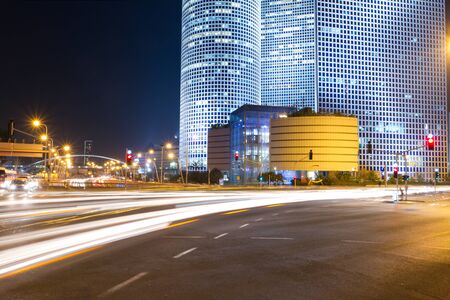 Tel Aviv at night. Azrieli center. Stock Photo - 11732610