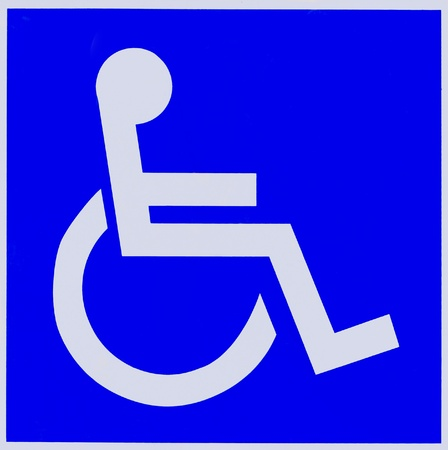 Handicapped sign. Disabled wheelchair sign. photo
