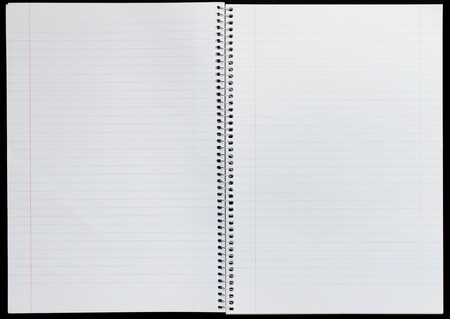 ruled paper: Open view of a lined blank notepad