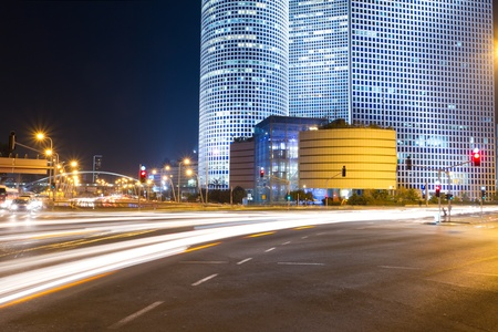 Tel Aviv at night. Azrieli center. photo