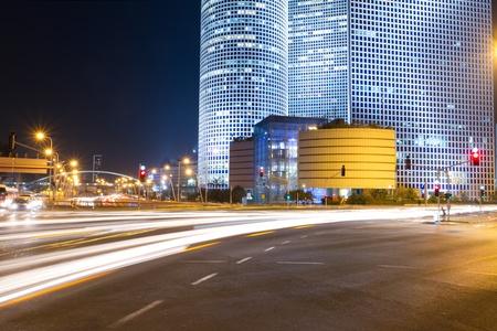 azrieli: Tel Aviv at night. Azrieli center.