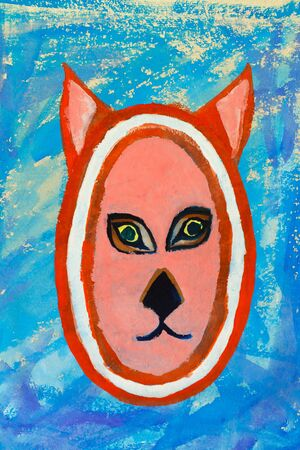 undomesticated:  Watercolor painting of a cat