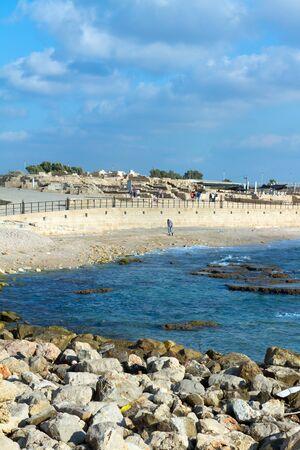 caesarea: Caesarea´s National Park. Caesarea sea port, Israel. Stock Photo