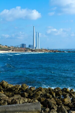 ancient israel: Power plant near Caesarea in Israel