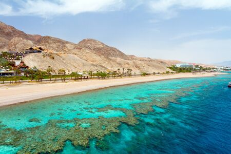Panorama coastline of Red sea from coral reef Stock Photo - 12017891