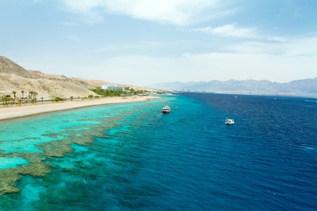 Panorama coastline of Red sea from coral reef Stock Photo - 12017882